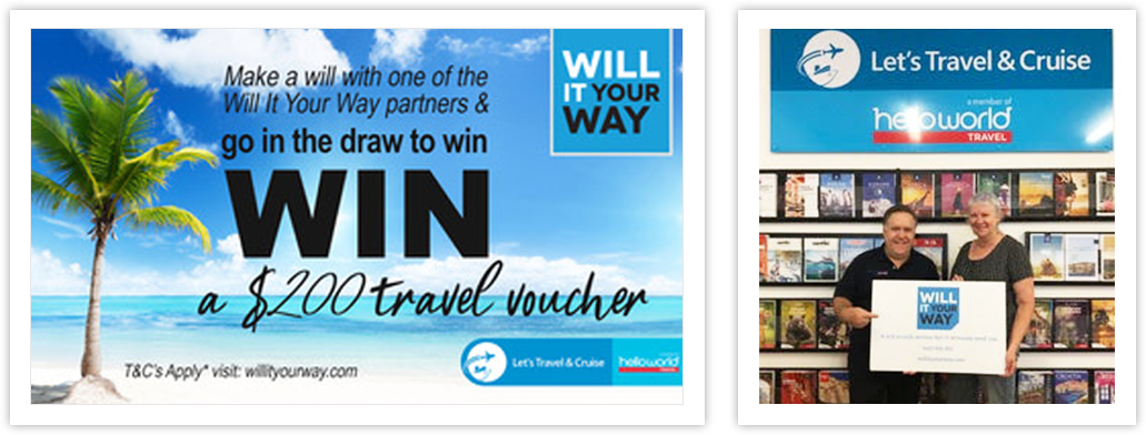 WILL IT YOUR WAY TRAVEL VOUCHER COMPETITION